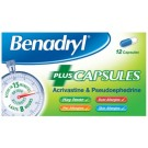 Benadryl Plus Allergy and Congestion Relief x12