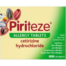 Piriteze Allergy Tablets One a Day x30