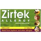 Zirtek Allergy Tablets x21